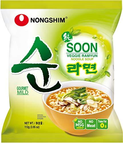 Nong Shim Instant Noodles, Veggie Ramyun, Mild, (20Packs of 112g)