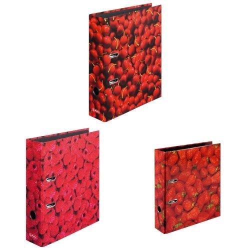 herlitz 3er Set Motivordner - Kirsche Erdbeere Himbeere