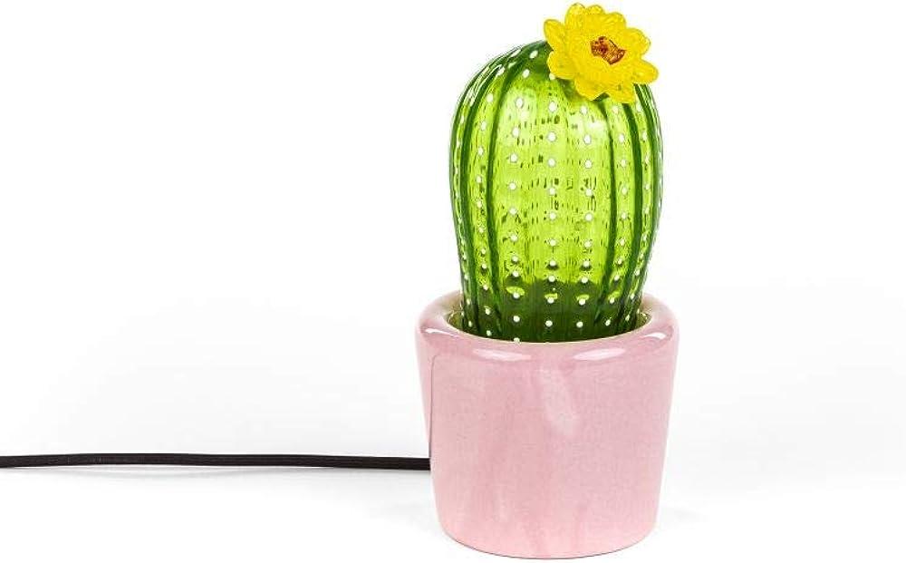 Seletti,lampada da tavolo / terra,lampada cactus, in vetro soffiato artistico 14590