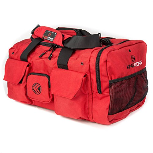 "King Kong Original Nylon Gym Bag - Heavy Duty and Water-Resistant Duffle Bag - Military Spec Nylon- Heavy Duty Steel Buckles - 20"" x 12"" x 12"" - Red"