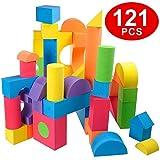 Flycreat 積み木 知育玩具 つみき EVA素材 ブロック 軽くて柔らかい おもちゃ DIY カ……