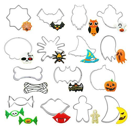Haimoburg 15 Pezzi Formine per Biscotti Acciaio Inox Halloween Stampi Biscotti DIY Decorazioni Dolci Biscotti (15 Pezzi)