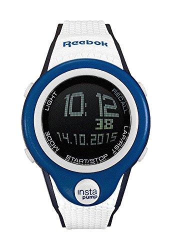 Reebok Pump InstaPump Digital Men's Chrono Watch Blue White and Black RC-PIP-G9-PLPW-BW