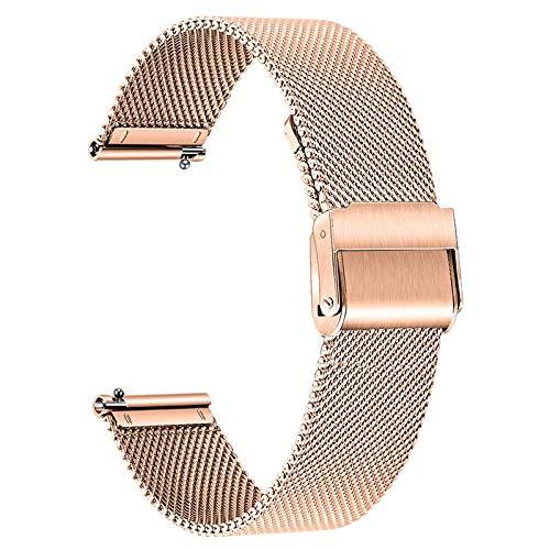 TRUMiRR Ersatz für Galaxy Watch 3 41mm/Moto 360 3rd Gen/Withings Steel HR Sport/Amazfit GTR 42mm Armband, Mesh Gewebt Edelstahl Uhrenarmband Quick Release Armband für Samsung Galaxy Watch3 41mm