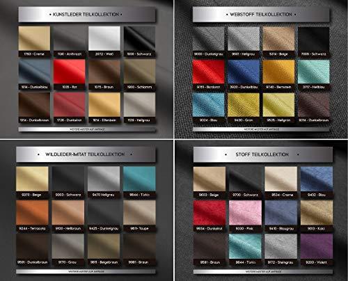 PAARA Farbmuster | Bezugsstoffe | Webstoff | Kunstleder anfordern für Boxspringbetten | Polsterbetten | Jedes Bett EIN Unikat - Made in Germany