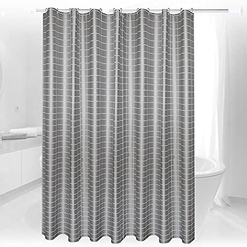 LCAWEI - Cortinas de ducha (PEVA, 220/240 caídas), color gris