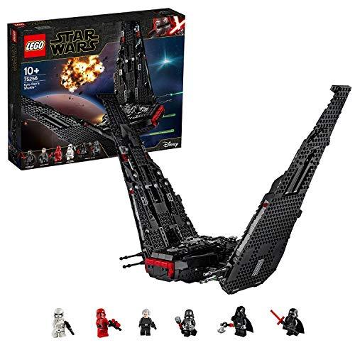 LEGO 75256 Star Wars Kylo Rens Shuttle-Raumschiff-Bauset mit 2 Spring Shootern, Der Aufstieg Skywalkers Set
