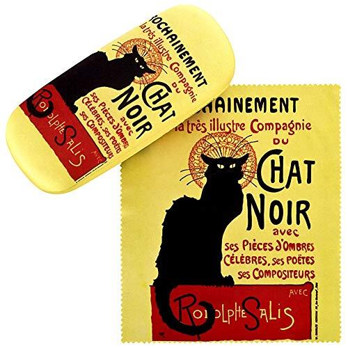 VON LILIENFELD Brillenetui Katze Chat Noir Hardcase Box Stabil Leicht Geschenk Kunst Damen Herren Motiv