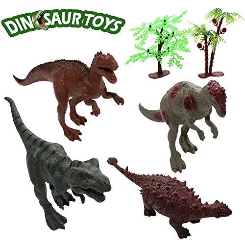 Hip Mall Dinosaurios de Aspecto Realista, Paquete de 4 Grandes Figuras de Dinosaurios Surtidos de…
