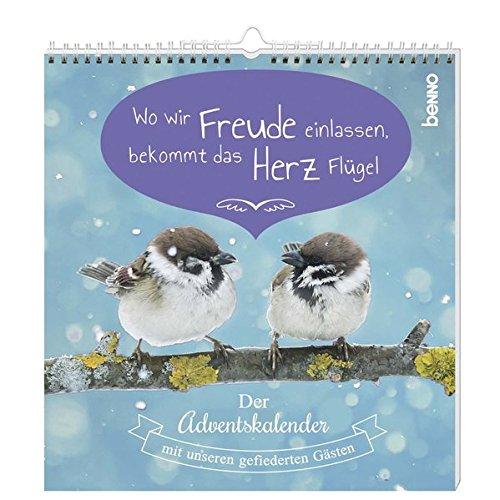 Postkarten-Adventskalender »Wo wir Freude einlassen, bekommt das Herz Flügel«: Der Adventskalender mit unseren gefiederten Gästen