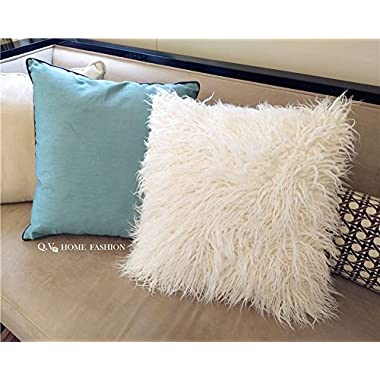 Pinkday Deluxe Home Decorative Super Soft Faux Sheepskin Fur Pillow Cover Faux Fur Throw Pillow Cover Cushion Case