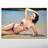 Women Wall Art Picture Hot Sexy Girl Sophie Howard Bikini Poster Beach Adult Model Photo Canvas Art Paintings Bedroom Home Decor 50x75cm/Unframed-3