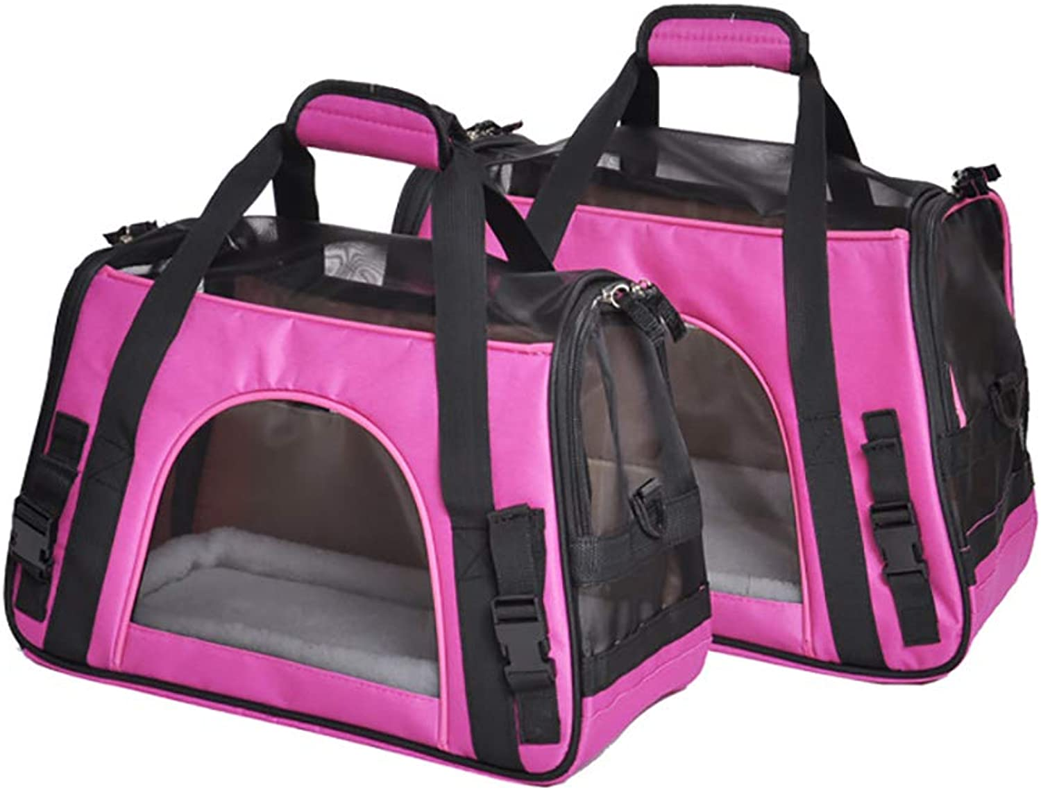 QNMM Pet Portable Backpack Dog Outing Tote Collapsible Pet Travel Carrier Shoulder Bag For Small Dogs&Cats,pinkred,M