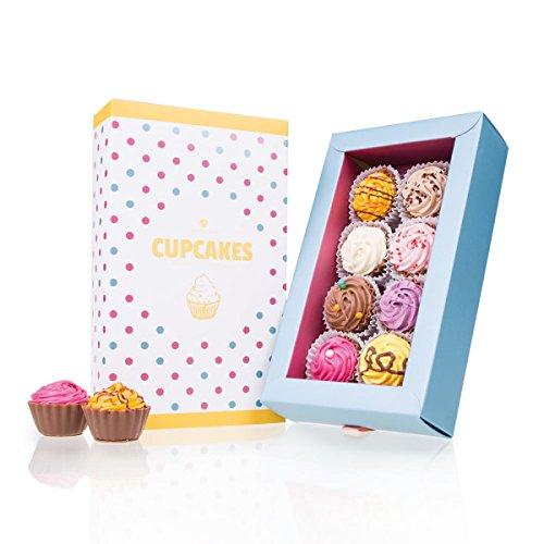 American Cupcakes 8 - acht Cupcake-Pralinen - Schokolade - Geschenk - Geburtstag
