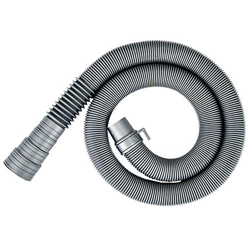 Gsrhzd tubo di scarico lavatrice, Prolunga Tubo Scarico Acqu, Tubo di scarico della lavatrice lungo 2 metri, adatto per linstallazione nelle lavatrici domestiche (grigio)