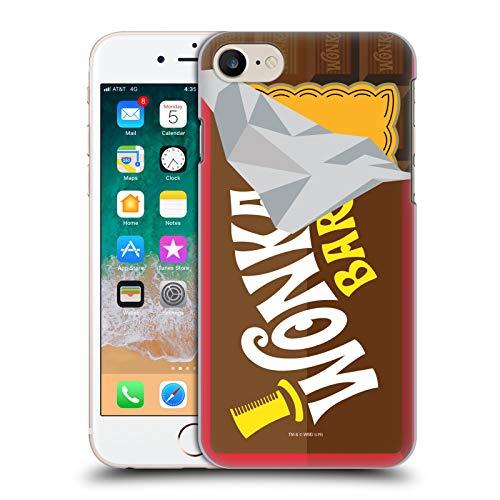 Head Case Designs Offizielle Willy Wonka and The Chocolate Factory Suessigkeiten Bar Grafiken Harte Rueckseiten Huelle kompatibel mit Apple iPhone 7 / iPhone 8 / iPhone SE 2020