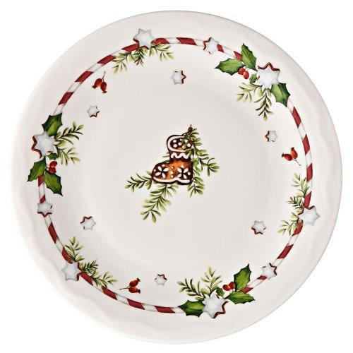 Hutschenreuther 02460-725492-10857 Weihnachtsleckereien Brotteller, 17 cm