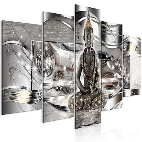 murando - Bilder Buddha 200x100 cm Vlies Leinwandbild 5 TLG Kunstdruck modern Wandbilder XXL Wanddekoration Design Wand Bild - Feng Shui Abstrakt Diamant p-A-0037-b-m