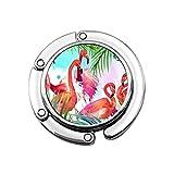 Gancho para Monedero para Pintura de Mesa-Flamencos Ganchos para Mesa para monederos Colgador de Bolso para Mujer Decoración de Silla de café