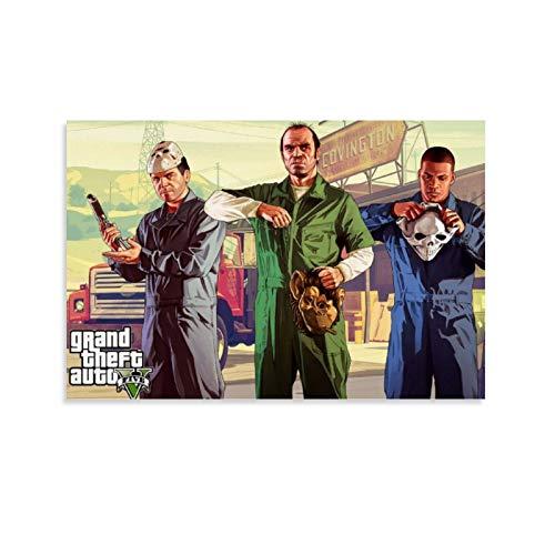 Yunle Grand Theft Auto 23 póster decorativo lienzo pared arte sala de estar carteles dormitorio pintura 30 x 45 cm