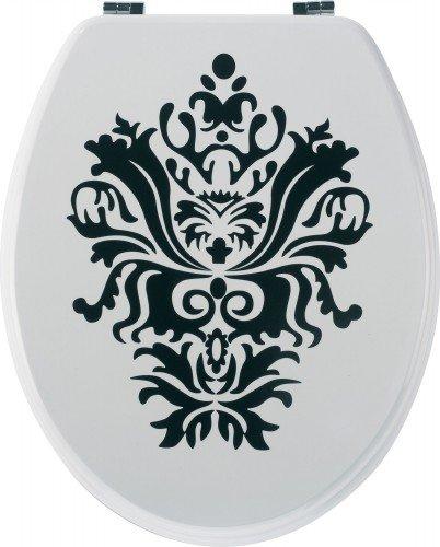 Sanwood 6094010 WC Sitz Liz weiß, 20 mm Flor, MDF mit Dekorfolie