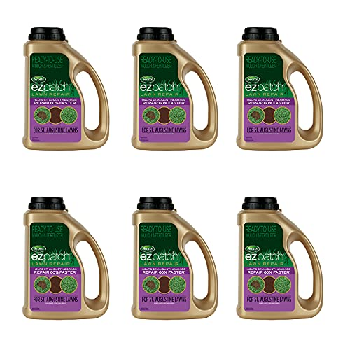 Scotts EZ Patch Lawn Repair for St. Augustine Lawns, Combination Mulch and Fertilizer, 3.75 lbs. (6-Pack)