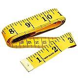 Cinta métrica blanda de doble cara para medir el cuerpo (la circunferencia del pecho/la cintura)....