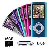 Ueleknight Lecteur MP3 MP4 avec Carte Micro SD 16G, Lecteur de Musique Numérique Portable/Vidéo/E-Book/Visualisation d'images,...