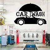 Service de voiture Magasin de pièces de pneus Lave-auto Garage Art Sticker Décoration-Studio Vitrine avec des autocollants en e