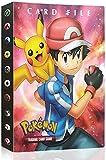 Funmo Raccoglitore Carte Pokémon, Porta Carte Pokemon Album per Carte Pokemon GX Ex, può ospitare 120 Carte a Caricamento Singolo o 240 a Doppio Caricamento (Ash Ketchum) (Rosso)