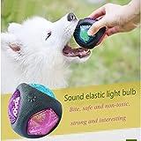 SZRWD Juguete de entrenamiento para mascotas, pelota de juguete con luz de sonido...