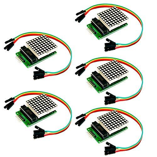 AZDelivery 5 x MAX7219 8x8 1 Dot Matrix MCU LED Anzeigemodul für Arduino mit gratis eBook!