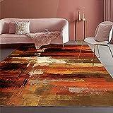 Comedor Alfombra Naranja Pila Corta Decoración Duradera Sala de Estar Habitación para niños alfombras Dormitorio Matrimonio Decoracion Salon 80X120CM 2ft 7.5