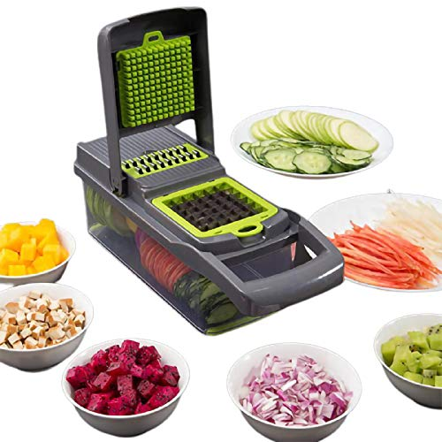 JZCXXJ Artefacto de Corte de Vegetales multifunción trituradora de Patatas trituradora rallador rallador de Patatas Fritas para el hogar rallador de Cocina