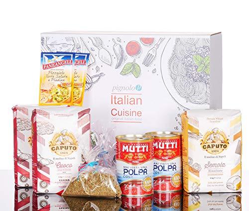 Pignolo Pizza Box Geschenkset zum selber machen - Teig, Tomatensauce wie in der Pizzaria, Box:Box 5