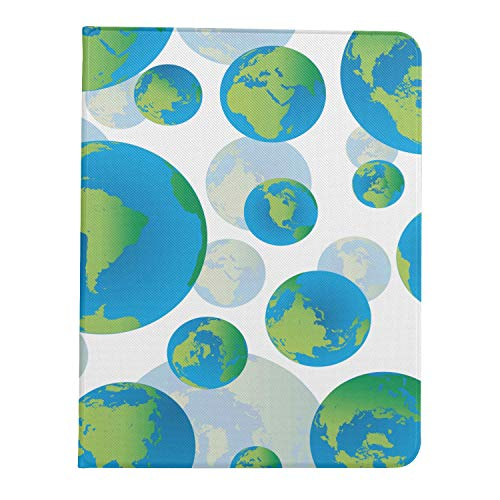 ZHANGhome Case For Ipad Pro 11 Inch 2nd & 1st Generation 2020/2018 ColorfulIpadPro11Case Abstract Seamless Earth Globes No CaseForIpadpro11 Support Ipad 2nd Gen Pencil Charging