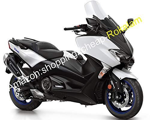 Kit de carénage pour moto TMAX 530 2017 2018 TMAX530 T-MAX530 17 18 T-MAX 530 blanc noir (moulage par injection)