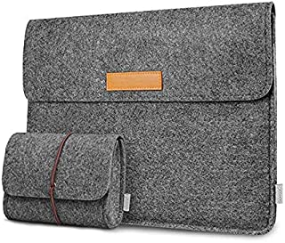 Inateck 12.3-13 Inch Laptop Sleeve Case Compatible MacBook Pro 13'' 2018/2017/2016 (A1989/A1706/A1708)/Microsoft Surface Pro 6/5/4/3, 2018 MacBook Air - Dark Gray