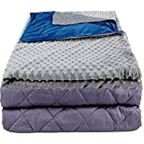 Aviano 30 lbs Weighted Blanket (Premium Quality) | King 80'x87' for Adults & Couples | w/Super Soft Duvet Cover | 30lb Weighted Blanket Combo | Dual-Sided Color