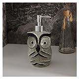 QTBH Dispensador de jabón Cerámica Ducha Gel champú Agua Botella de Agua Prensa Botella Modelo Sala de jabón del búho dispensador de jabón Liquid Soap Dispenser