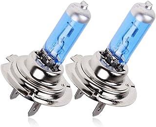 Stecto 2x H7 Halogen Lampe Auto 55W 12V Halogen Scheinwerferlampe Glühbirne H7 Abblendlicht, H7 Halogenscheinwerfer Nachtbrecher Heller Halogenscheinwerfer Autoscheinwerfer
