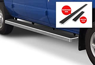 APS iBoard (Silver Powder Coated 5 inches) Running Boards Nerf Bars Side Steps Step Rails Compatible with 1999-2014 Ford Econoline Full Size Van