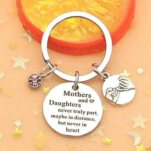 OVERMAL Schlüsselanhänger - Mutter Tochter schlüsselanhänger Mama große kleine Schwester Liebe Herz anhänger Geschenk für Familie Weihnachten