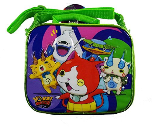 YO KAI WATCH Lunch Bag with Long Strap Featuring Multiple Characters