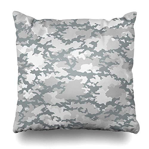Funda de almohada de material verde camuflaje patrón militar ejército moderno combate comando defensa bosque funda funda de almohada con cremallera tamaño cuadrado 45,7 x 45,7 cm decoración del hogar