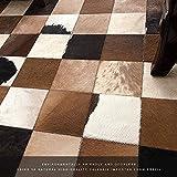 Baby Spielzeug Alfombra de mosaico geométrica extra grande importada de cuero de vaca natural para coser alfombras de abrigo, decoración del hogar, 140 x 200 cm