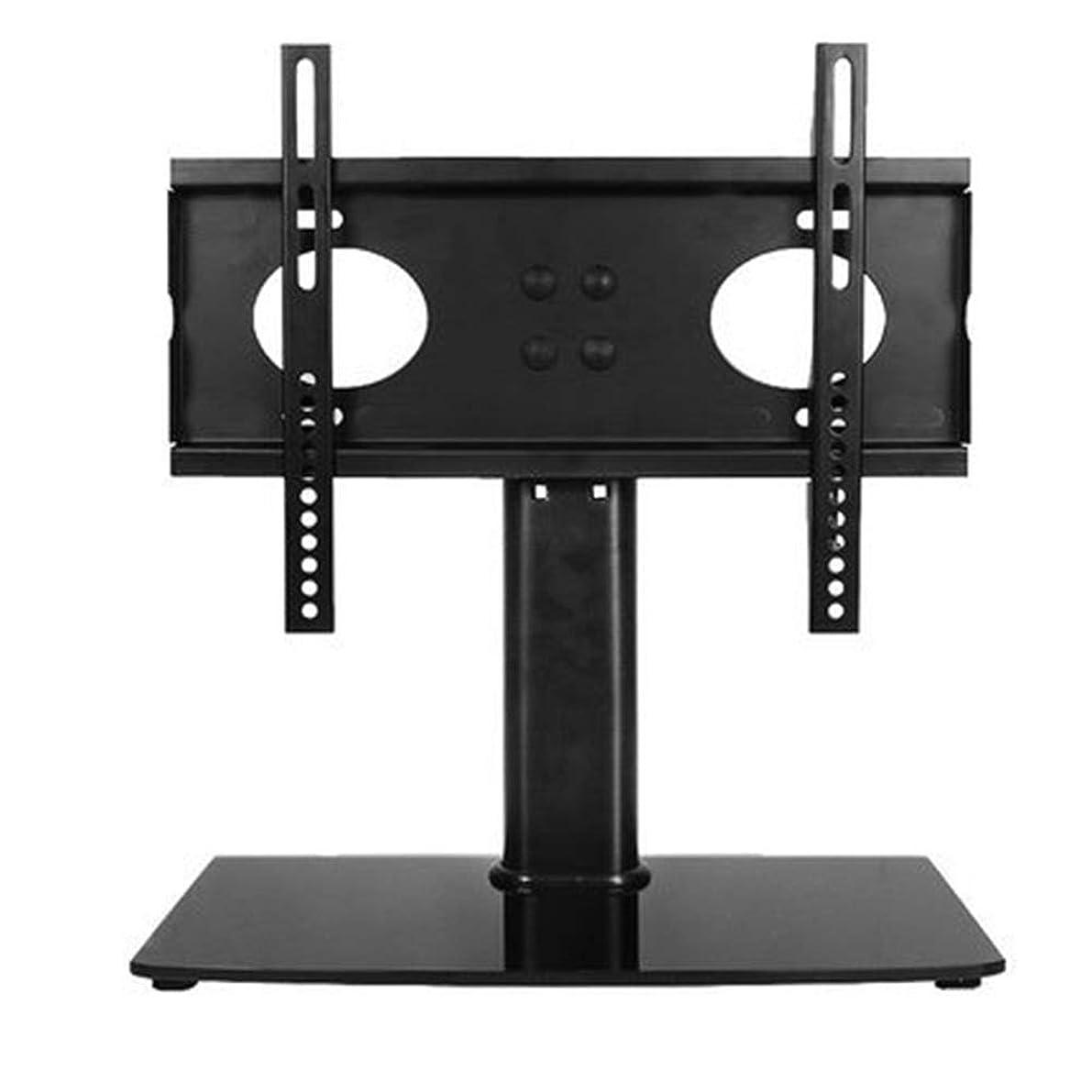 恐怖症インスタンス脅威テレビスタンド ユニバーサルスイベルテレビは、テーブルトップのテレビベースの高さ調節可能なテレビマウントスタンドスタンド 耐久性 組立簡単 (色 : ブラック, サイズ : 26-32 inches)