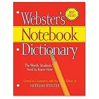 Merriam-Webster 3穴パンチペーパーバック 辞書辞書プリント本 英語 ソフトカバー 80ページ