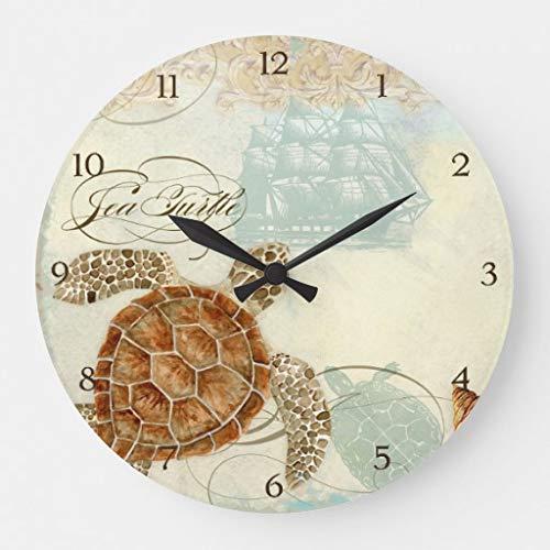 Thomas655 strand zand kust collage schildpad zee paard Shell grote klok