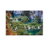 DSGDS Plitvice Seen in Kroatien, Reise-Poster, Leinwand,